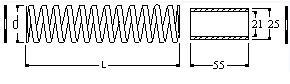 Molla completa di rondella e distanziale per tirante 9-11
