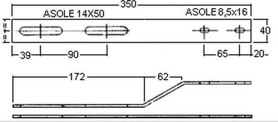 Staffa fissaggio commutatore piegata