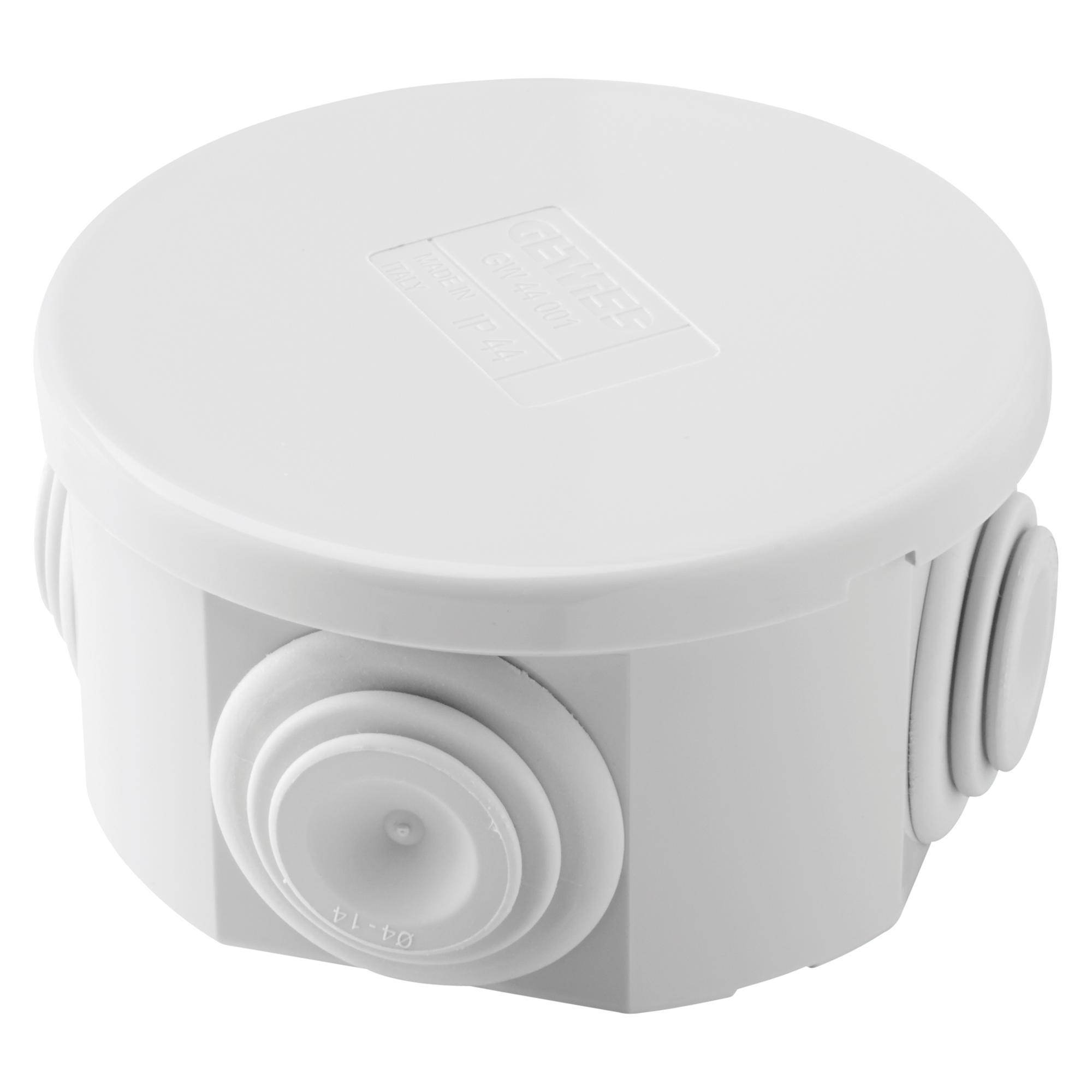 Cassetta di derivazione con coperchio basso a pressione