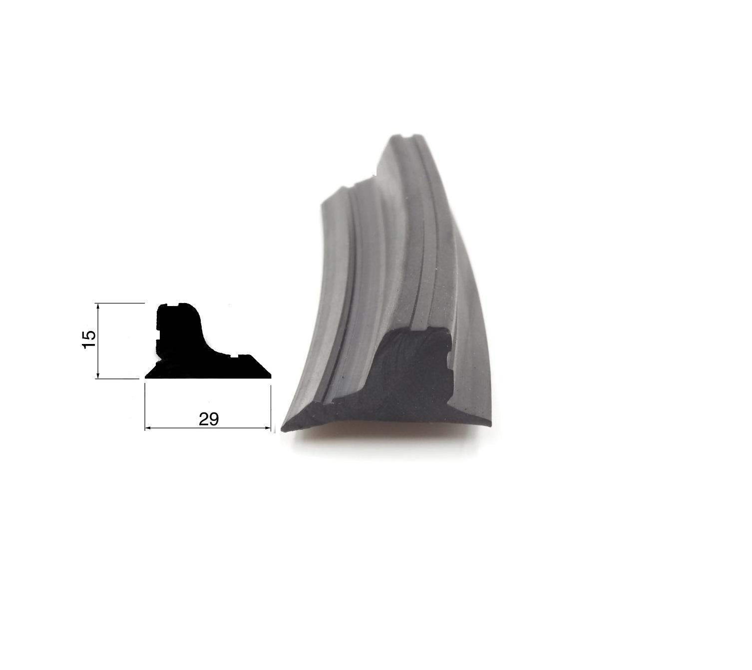 Profilo in gomma per porte automatiche