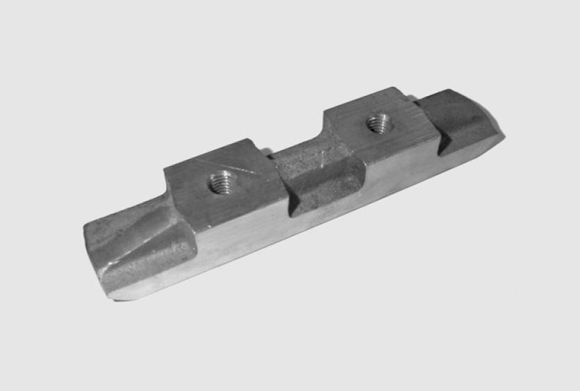 Pattino in bronzo per arcata tipo 123/1