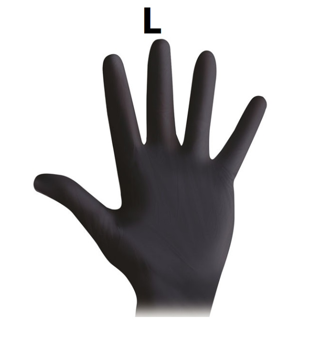 Guanti in nitrile nero / magenta / viola