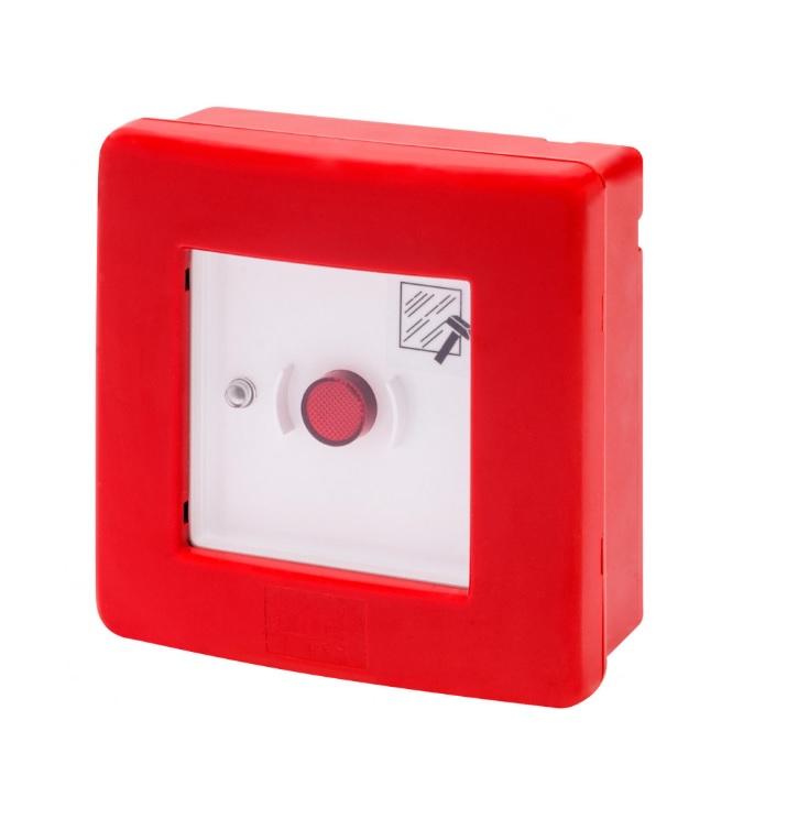 Centralino rosso per emergenza completo di pulsante