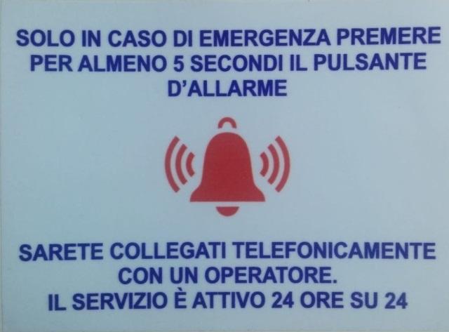 Targa - Emergenza Allarme - Adesiva