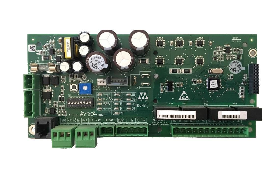 Scheda con box elettronico Eco per operatore automatico EN 81.1/2