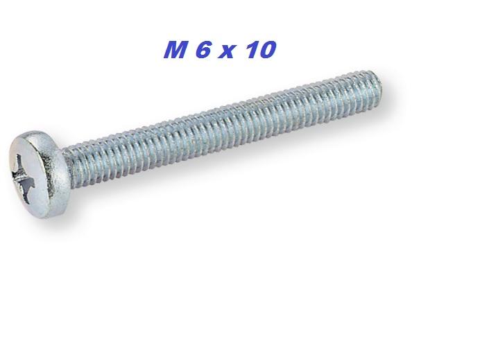 Vite testa cilindrica con calotta DIN 7985 zincata, Acciaio, 4.8, galvanizzato, impronta a croce