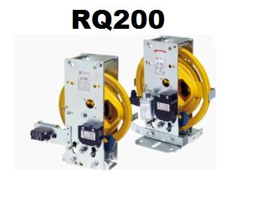 MONTANARI Limitatore RQ200 BD Dx b. piana antider. 24V. DC D/contatto + kit bloccaggio antideriva ( A3)