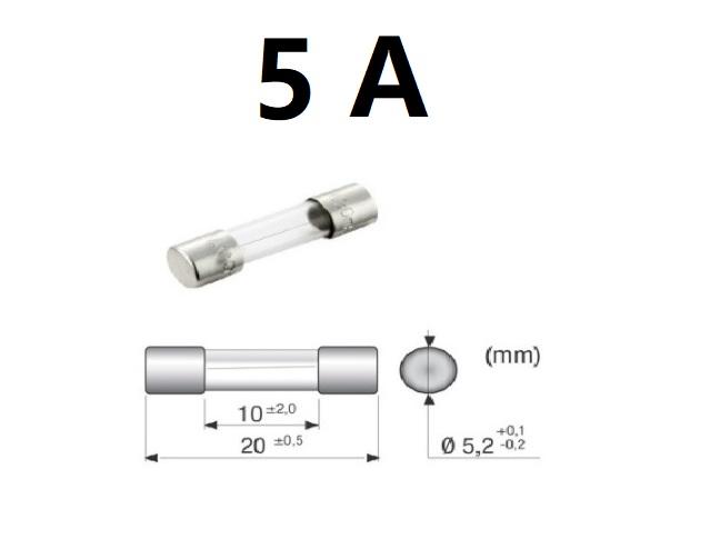 Fusible rapido cilindrico  in vetro 5X20