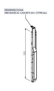 Pattino meccanico per operatore a soffietto BUS M11