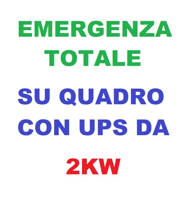 Emergenza Totale su Quadro Con UPS da 2KW