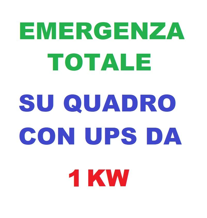 Emergenza Totale su Quadro Con UPS da 1KW