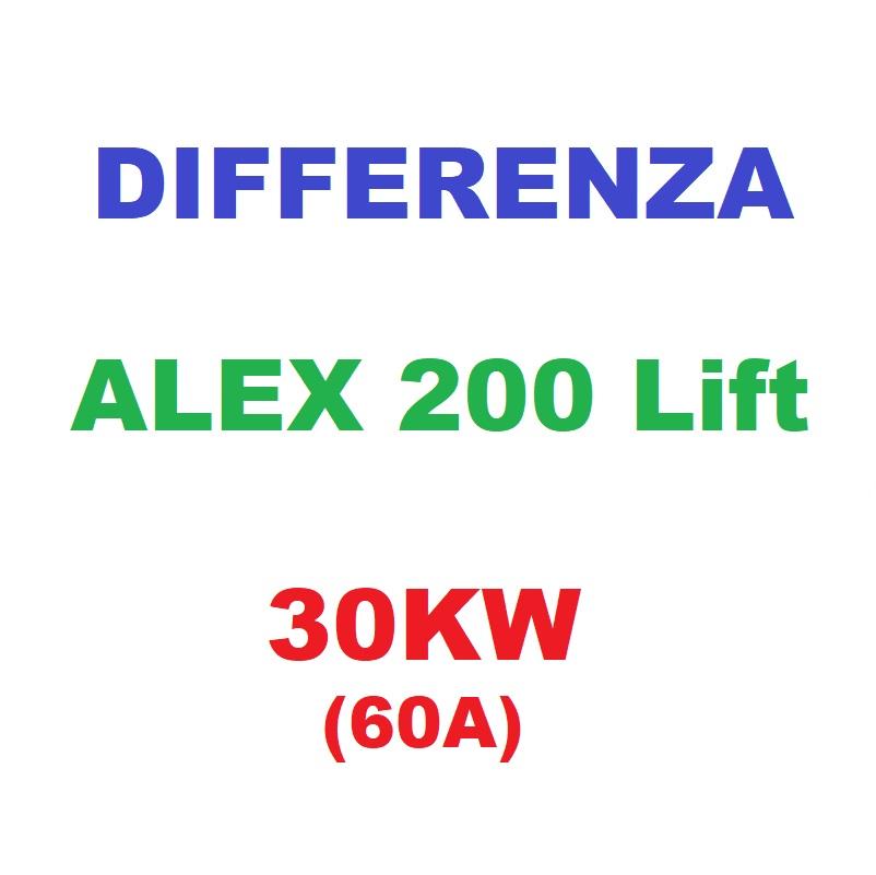 Differenza ALEX200Lift 30KW (60A)