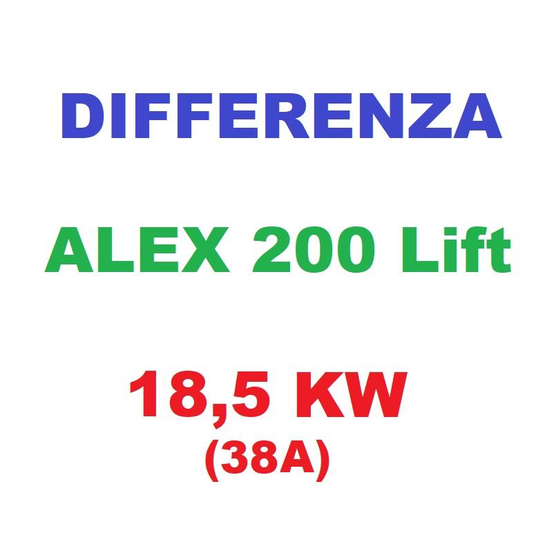 Differenza ALEX200Lift 18,5KW (38A)