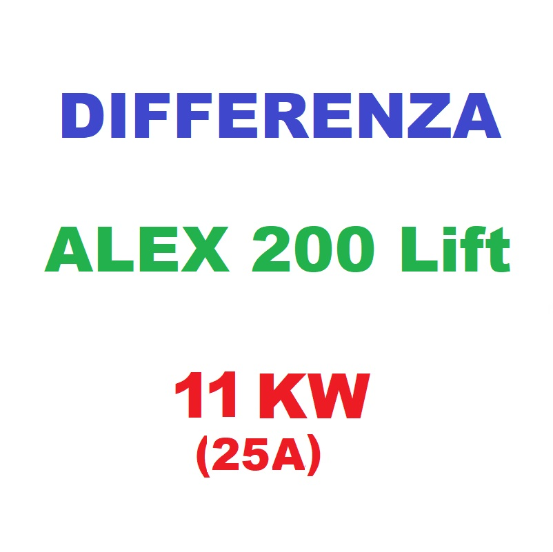 Differenza ALEX200Lift 11KW (25A)