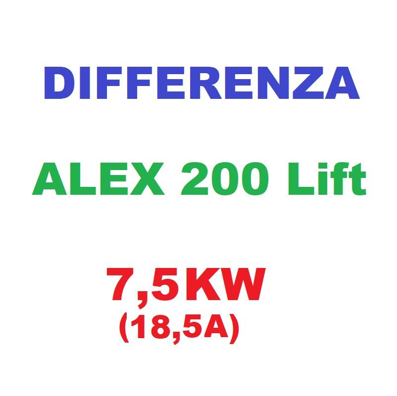 Differenza da variatore ALEX200 Lift da 5,5Kw a 7,5Kw (18,5A)