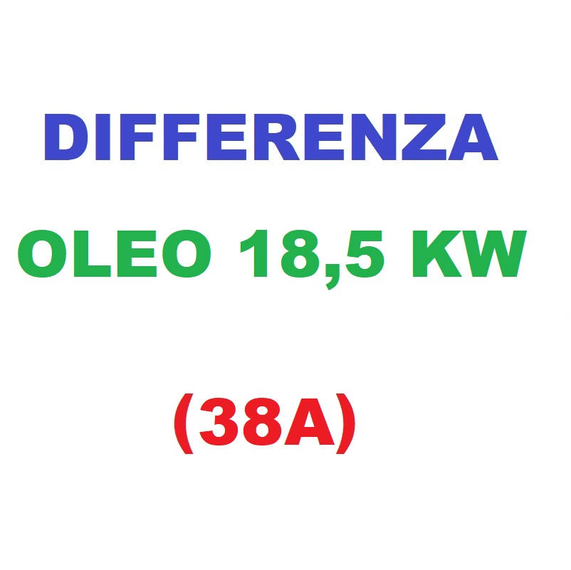 Differenza OLEO a 18,5KW (38A)