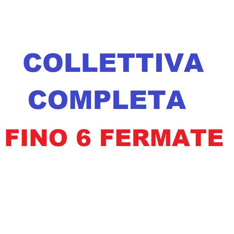 Collettivacompletafinoa 6 fermate o Collettiva solo salita o solo discesa fino a 8 fermate.