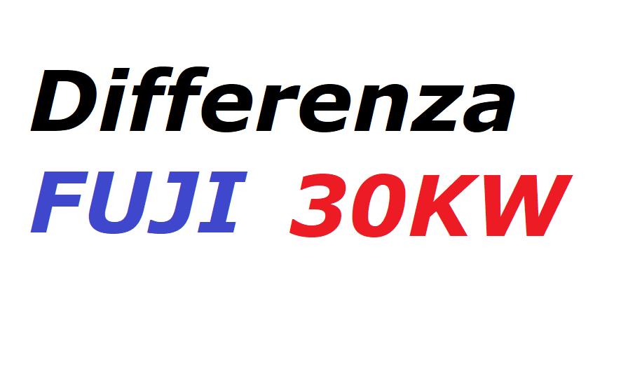 Differenza FUJI 30Kw (60A)